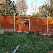 Before Fence Panel Replacement Nottingham